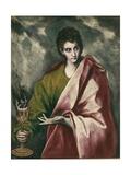 Saint John the Evangelist Posters tekijänä  El Greco