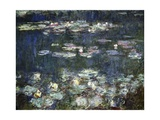 Waterlilies: Green Reflections Giclée-Premiumdruck von Claude Monet