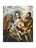 Holy Family with Saint Anne Póster por  El Greco