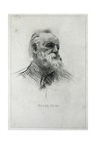 Portrait of Victor Hugo Posters by Auguste Rodin