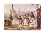 Light Refreshments after Lunch in the Palace Square Poster by Jean Baptiste Debret