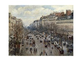 Boulevard Monmartre in Paris Posters by Camille Pissarro