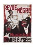 Poster of 'La Revue Negre', 1925 ポスター : ポール・コリン