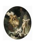 Roger Delivering Angelica Poster von Jean-Auguste-Dominique Ingres