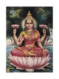 Hindu Goddess Srhi Sentamarai Laximi, Wife of Vishnu Láminas