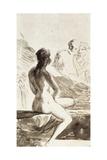 A Chaste Susana, 1790-1826 Affiche par Suzanne Valadon