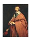 Portrait of Armand-Jean Du Plessis, Cardinal Richelieu Posters tekijänä Philippe De Champaigne