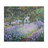 Artist's Garden at Giverny Giclée-Premiumdruck von Claude Monet