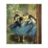 Dancers in Blue Posters av Edgar Degas
