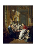 The Afternoon Meal Affiches par Francois Boucher