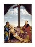St. John, the Virgin, Dead Christ and Praying Donor Poster par Rogier van der Weyden
