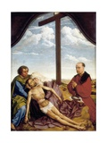 St. John, the Virgin, Dead Christ and Praying Donor Prints by Rogier van der Weyden