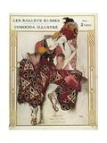 Program of the Russian Ballets Company Julisteet tekijänä Leon Bakst