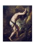 Sisyphus Plakater af  Titian (Tiziano Vecelli)