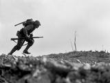 Marine Pfc. Paul E. Ison Runs Through Japanese Machine Gun Fire on Okinawa Photo