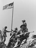 The First Flag Raising on Iwo Jima's Mount Suribachi Foto