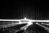 Grand Review on the Searchlight-Illuminated Zeppelin Field at Nuremberg Rally Foto