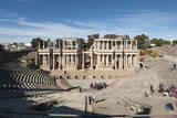 Roman Theater, Merida, UNESCO World Heritage Site, Badajoz, Extremadura, Spain, Europe Photographic Print by  Michael