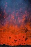 Active Lava Eruption on the Tolbachik Volcano, Kamchatka, Russia, Eurasia Photographic Print by  Michael