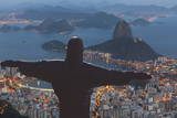 Statue of Christ the Redeemer, Corcovado, Rio De Janeiro, Brazil, South America Fotografisk trykk av  Angelo