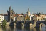 Charles Bridge, UNESCO World Heritage Site, Prague, Czech Republic, Europe Photographic Print by  Angelo