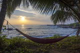 Silhoutte of an Empty Beach Hammock at the Beach, Tangalle, Sri Lanka, Asia Photographic Print by  Charlie