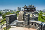 Huge Stone Walls around the Fortress of Suwon, UNESCO World Heritage Site, South Korea, Asia Photographic Print by  Michael
