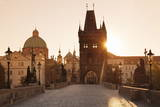 Old Town Bridge Tower and Charles Bridge at Sunrise Photographic Print by  Markus