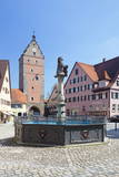 Fountain at the Marketplace with Wornitz Turm Tower Photographic Print by  Marcus