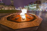 Centennial Flame Commemorating Canada's 100th Anniversary as a Confederation Photographic Print by  Michael