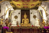 Golden Sitting Buddhist Statue Photographic Print by  Charlie