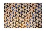 Alhambra, Comares Palace, Court of the Myrtles, Tiles, 9-14th Century, Granada, Spain Kunstdruck