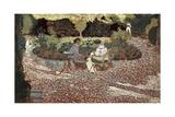 Repast in a Garden Affiches par Edouard Vuillard
