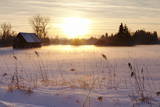Federsee Nature Reserve at Sunset in Winter Photographic Print by  Markus