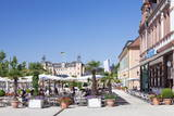 Street Cafes and Schloss Schwetzingen Palace Photographic Print by  Markus