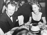 John Wayne, Loretta Young at the Mocambo after a Movie Premiere, 1942 Foto