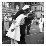 Kissing the War Goodbye in Times Square, 1945, II Posters van Victor Jorgensen