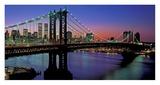 Manhattan Bridge and Skyline II Affischer av Richard Berenholtz