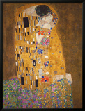 接吻, 1907 高画質プリント : グスタフ・クリムト