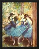 Dancers in Blue, c.1895 Prints by Edgar Degas