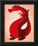 Red Dragon Posters by John Golden