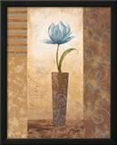 Brazen Blue Tulip Prints by  Nan