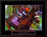 Success: Horse Race Jockey Poster by Bill Hall
