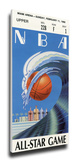 1990 NBA All-Star Game Mega Ticket, Heat Host - MVP Magic Johnson, Lakers Stretched Canvas Print