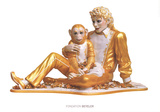 Michael Jackson and Bubbles Posters por Jeff Koons