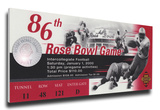 2000 Rose Bowl Mega Ticket - Wisconsin Badgers Stretched Canvas Print