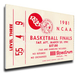 1981 NCAA Basketball Finals Mega Ticket - Indiana Hoosiers Stretched Canvas Print