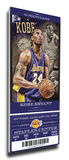 Kobe Bryant Artist Series Mega Ticket - Los Angeles Lakers (Farano) Stretched Canvas Print