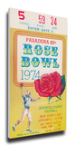 1974 Rose Bowl Mega Ticket - Ohio State Buckeyes Stretched Canvas Print