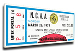 1979 NCAA Basketball Finals Mega Ticket - Michigan State Spartans Stretched Canvas Print